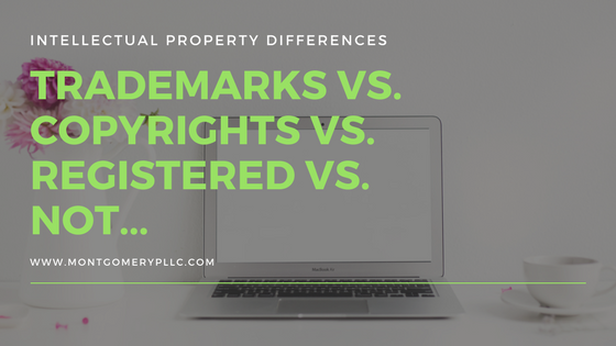 Intellectual property differences trademarks vs copyrights