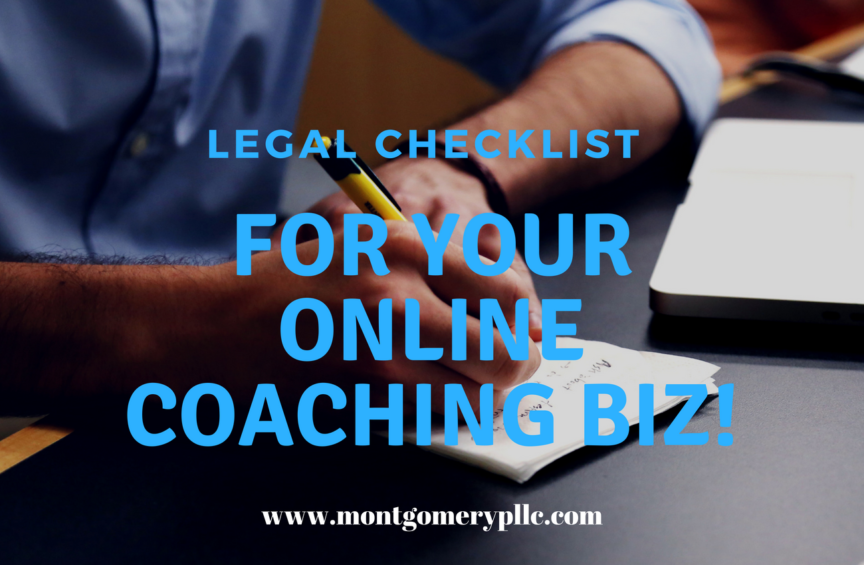 setting up your online coaching business legally